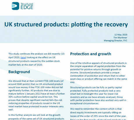 Structured Edge: UK Structured Products: plotting the recovery
