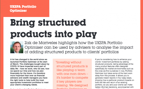 ILP Moneyfacts: Bring structured products into play