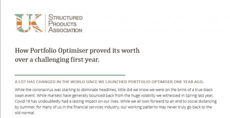 UKSPA: Portfolio Optimiser: One year on