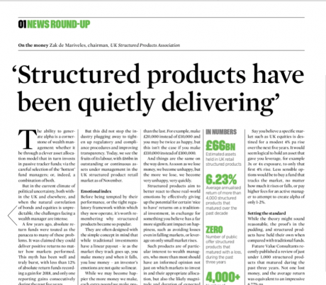 Structured products have been quietly delivering