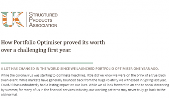 Open UKSPA: Portfolio Optimiser: One year on