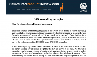 Open StructuredProductReview.com: 1,000 Compelling Examples